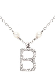 Lets Accessorize Initial Pearl-diamond Necklace - Side cropped