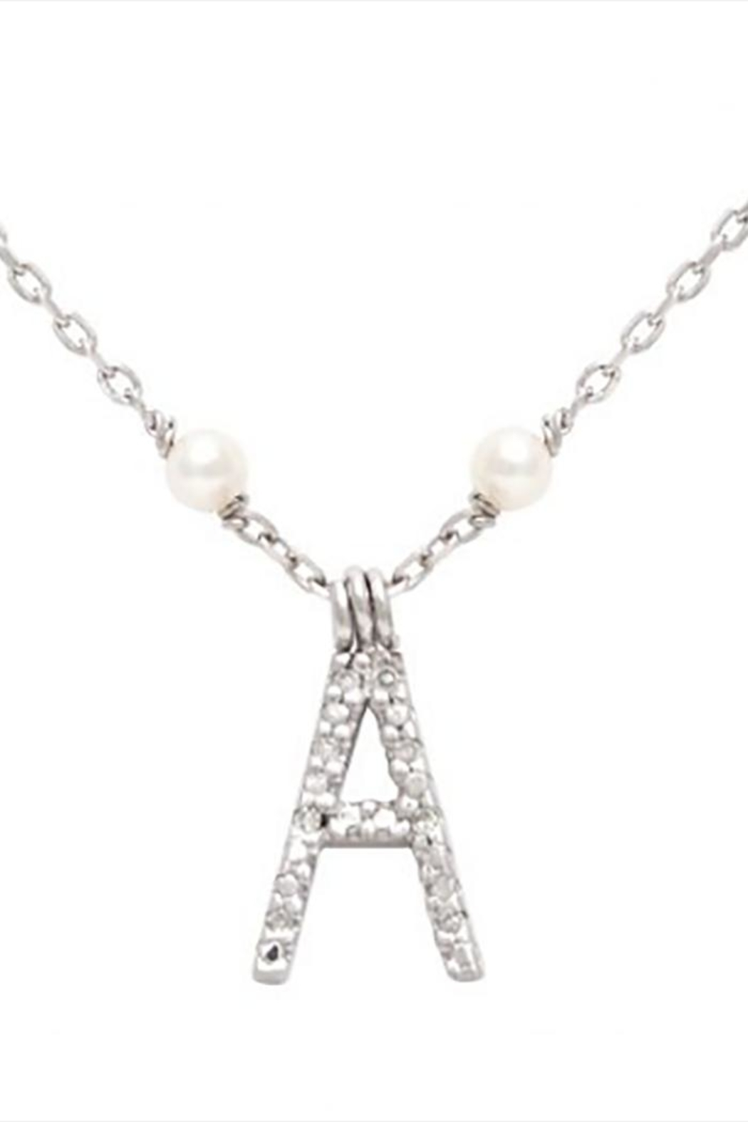 Lets Accessorize Initial Pearl-diamond Necklace - Main Image
