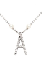 Lets Accessorize Initial Pearl-diamond Necklace - Front cropped