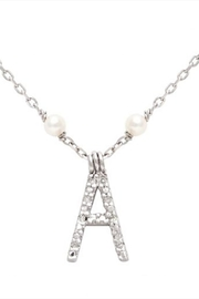 Lau International Initial Pearl-diamond Necklace - Product Mini Image