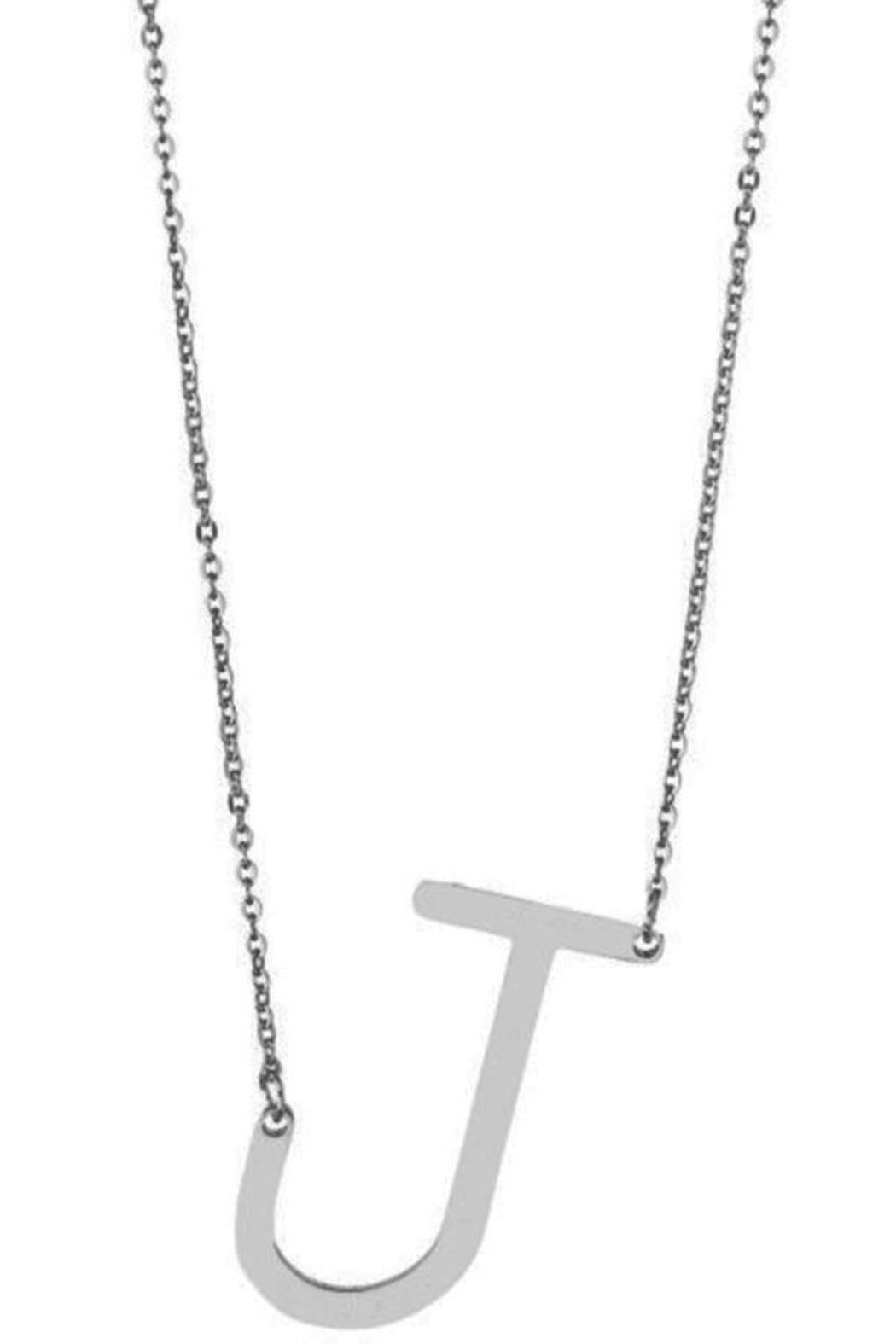 Girly Initial Pendant Necklace - Back Cropped Image