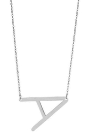 Girly Initial Pendant Necklace - Front cropped