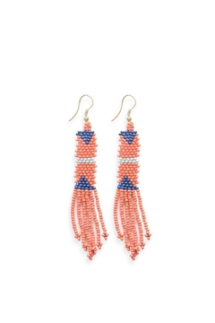 Ink + Alloy Coral Petite Fringe Bead Earrings - Product List Image