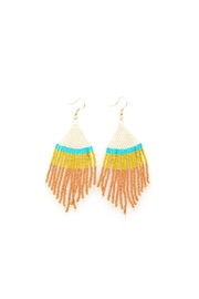Ink + Alloy Multicolor Fringe Beaded Earrings - Product Mini Image
