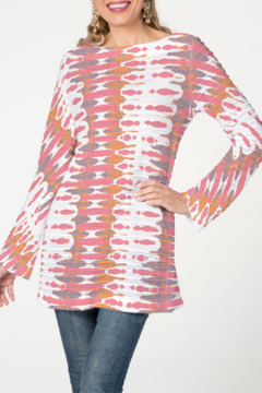 Whimsy Rose Ink Blot Pink - Banded Boatneck Tunic - Product List Image