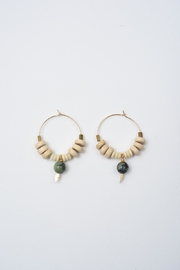 Ink + Alloy African Turquoise Hoops - Product Mini Image