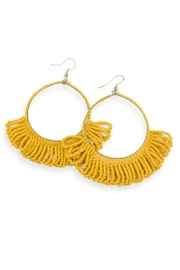 Ink + Alloy Fringe Bead Hoop Earring - Product Mini Image