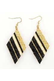 Ink + Alloy Gold Black Bead Earrings - Product Mini Image