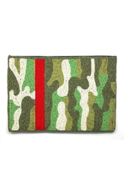Ink + Alloy Green Camo Clutch - Product Mini Image