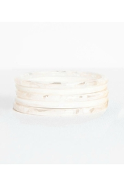 Ink + Alloy Marbled Bangle Set - Front cropped