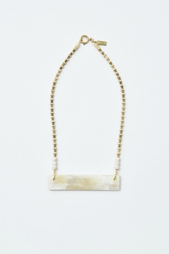 Shoptiques Product: White Horn Crossbar Necklace