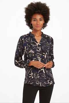 Nic + Zoe  Inky Blooms blouse - Product List Image