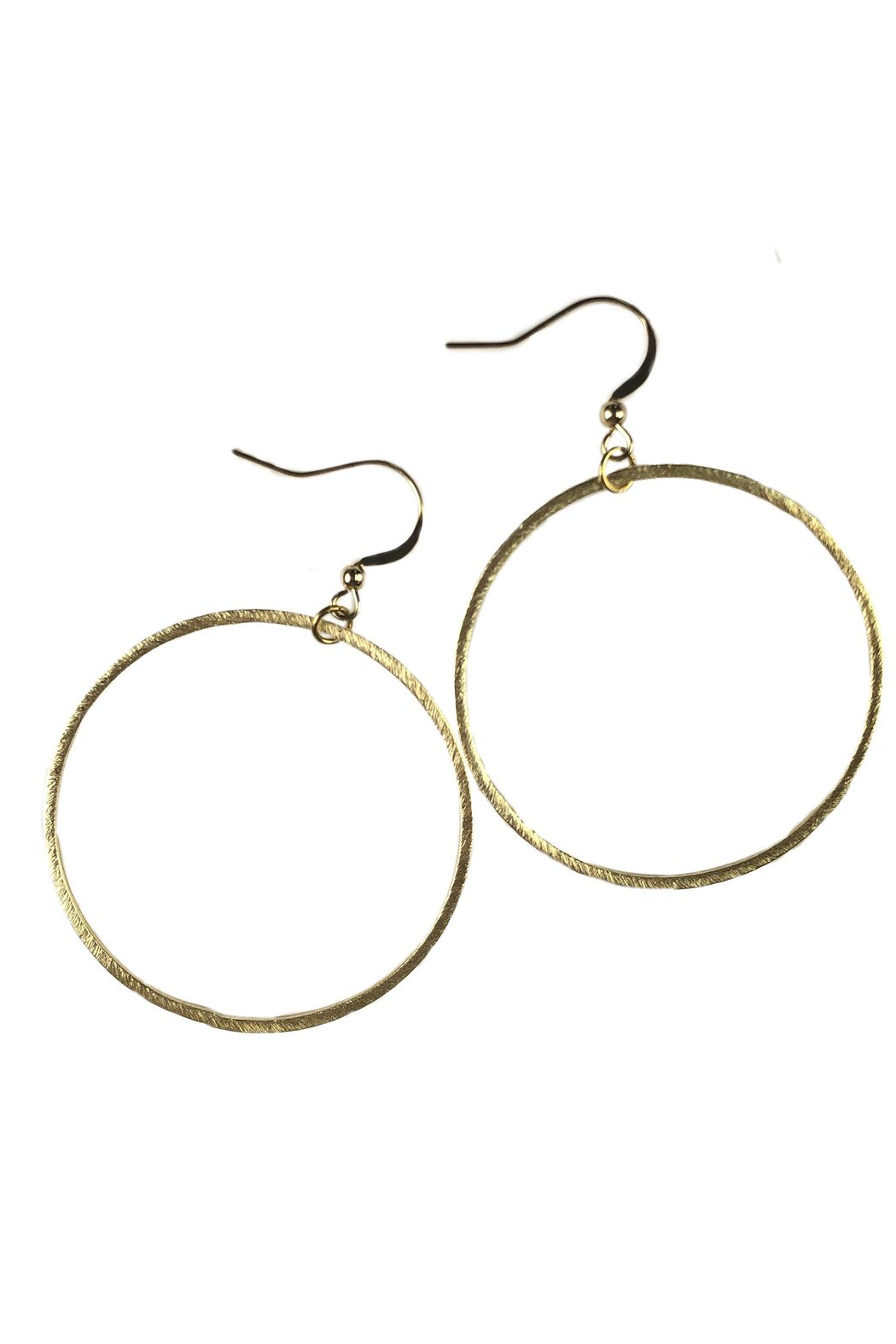Fabulina Designs Inner Circle Gold Hoop Earrings - Front Cropped Image