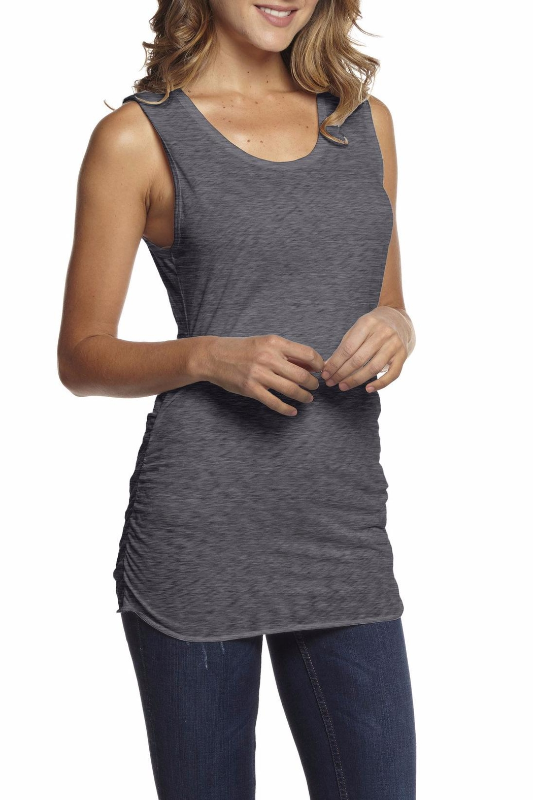 Inner Shine Gathered Side Tank Top - Front Cropped Image