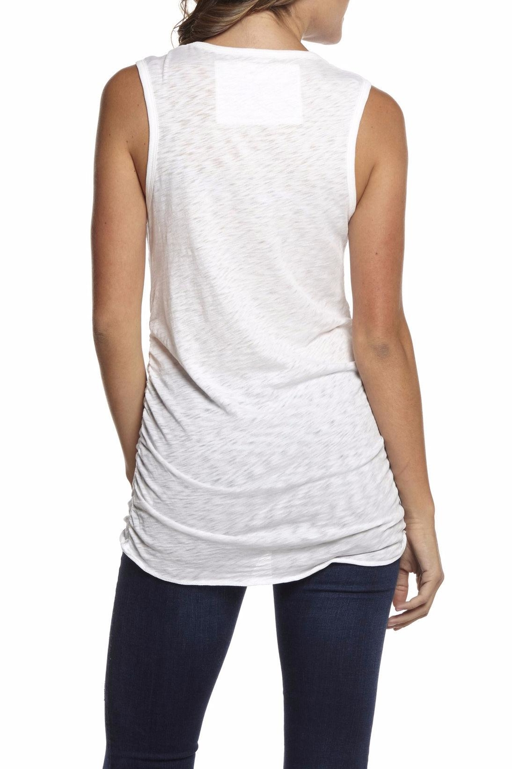 Inner Shine Gathered Side Tank Top - Front Full Image