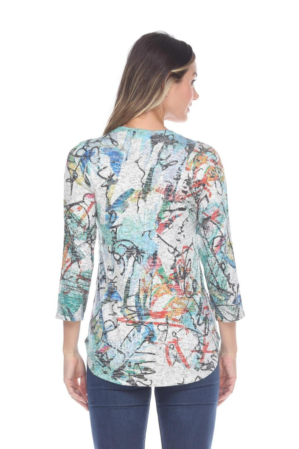 Inoah Abstract Knit Top - Front Full Image