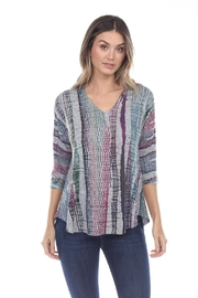Inoah Abstract Knit Top - Product Mini Image