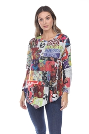 Inoah Asymmetrical French-Terry Top - Product Mini Image