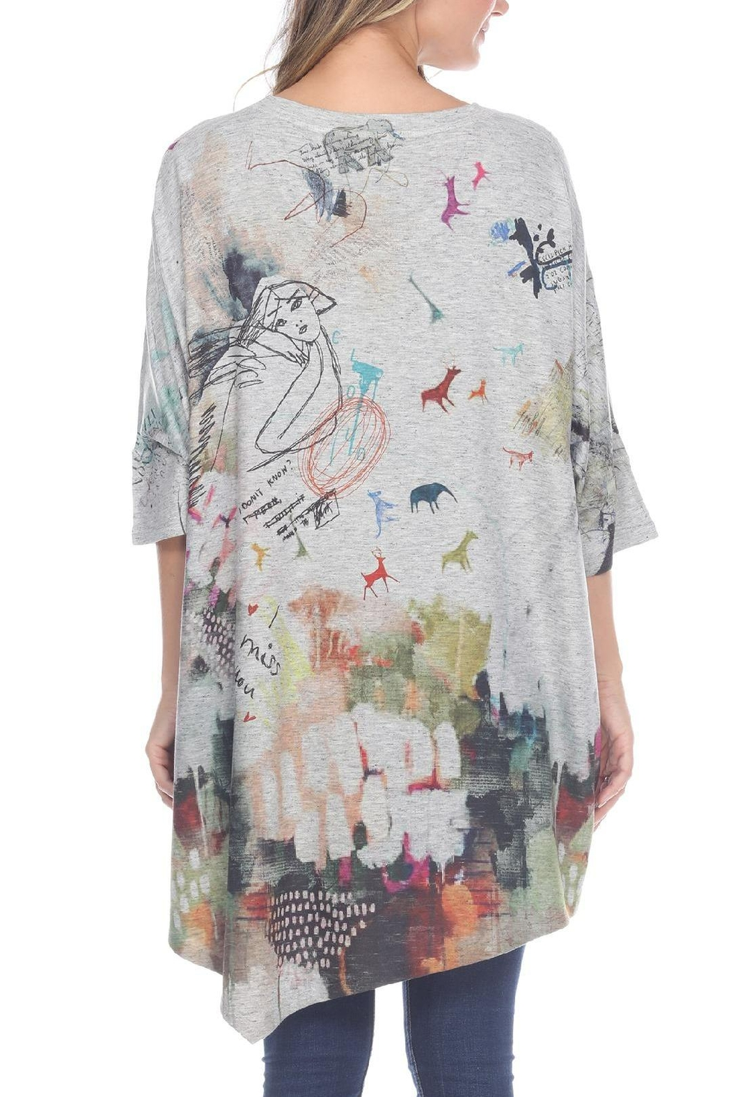 Inoah Asymmetrical One-Size Top - Front Full Image