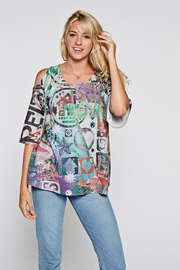 Inoah Cold Shoulder Top - Product Mini Image