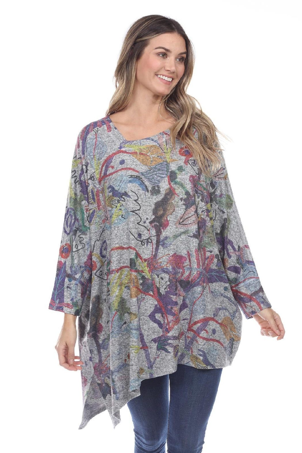 Inoah Colorful Boxy Top - Main Image