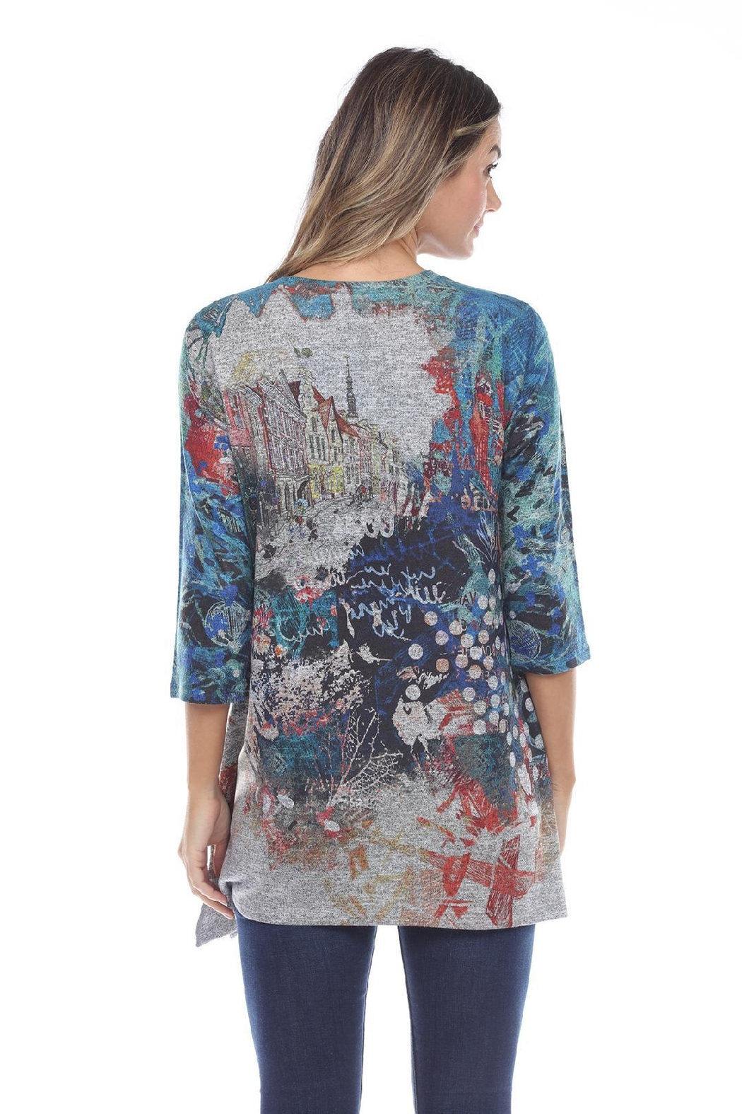 Inoah Colorful Knit Tunic - Front Full Image