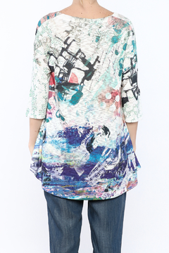 Inoah Colorful Knit Tunic Top - Alternate List Image