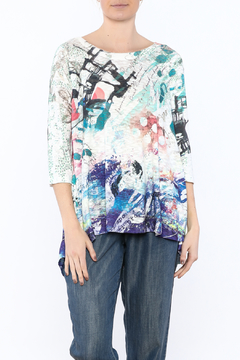 Inoah Colorful Knit Tunic Top - Product List Image