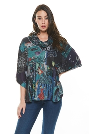 Inoah Colorful Poncho Top - Product Mini Image