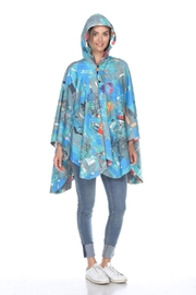 Inoah Colorful Rain Poncho - Front cropped