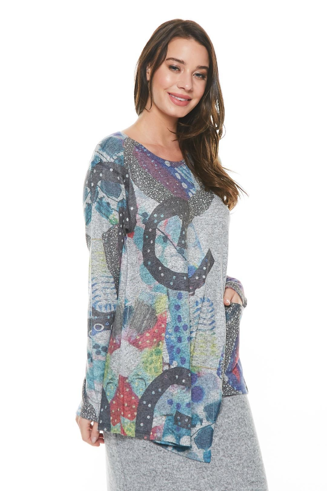Inoah Cosmic Knit Top - Main Image