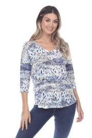 Inoah Crinkle Burnout Top - Front cropped