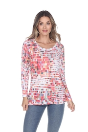 Inoah Crinkle Pixels Top - Front cropped