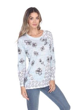 Inoah Floral Burnout Top - Alternate List Image