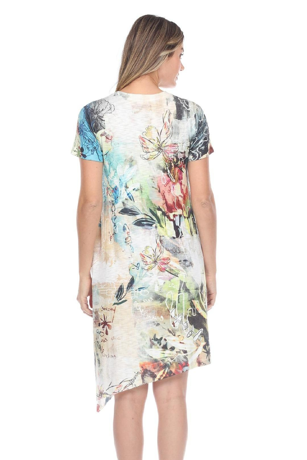 Inoah Floral Knit Dress - Front Full Image