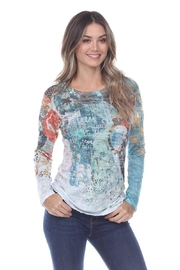 Inoah Garden Crinkle Top - Front cropped