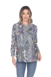 Inoah Graphic Hoodie Top - Product Mini Image