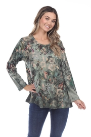 Inoah Green Floral Top - Front cropped