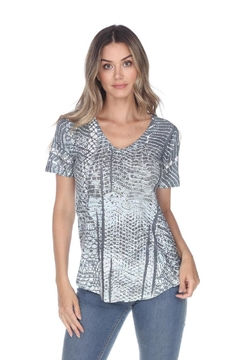 Inoah Grey Knit Top - Alternate List Image