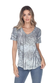 Inoah Grey Knit Top - Front cropped