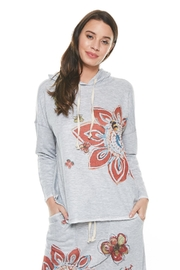 Inoah Hoodie Flower Top - Product Mini Image