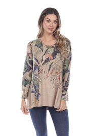 Inoah Leaf Knit Top - Front cropped