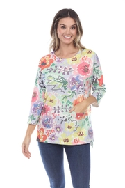 Inoah Poppy French-Terry Top - Product Mini Image