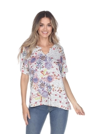 Inoah Split Neck Top - Product Mini Image