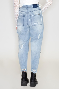 insane gene Slouch Patched Jeans - Alternate List Image