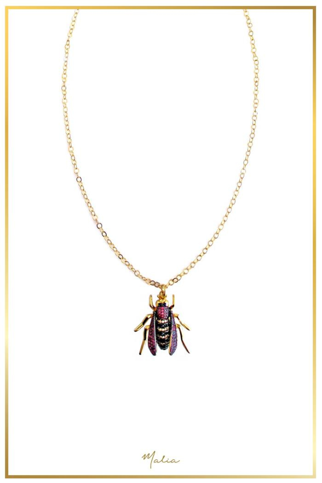 Malia Jewelry Insect Necklace - Main Image