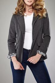 Insight Grey Ponte Jacket - Product Mini Image