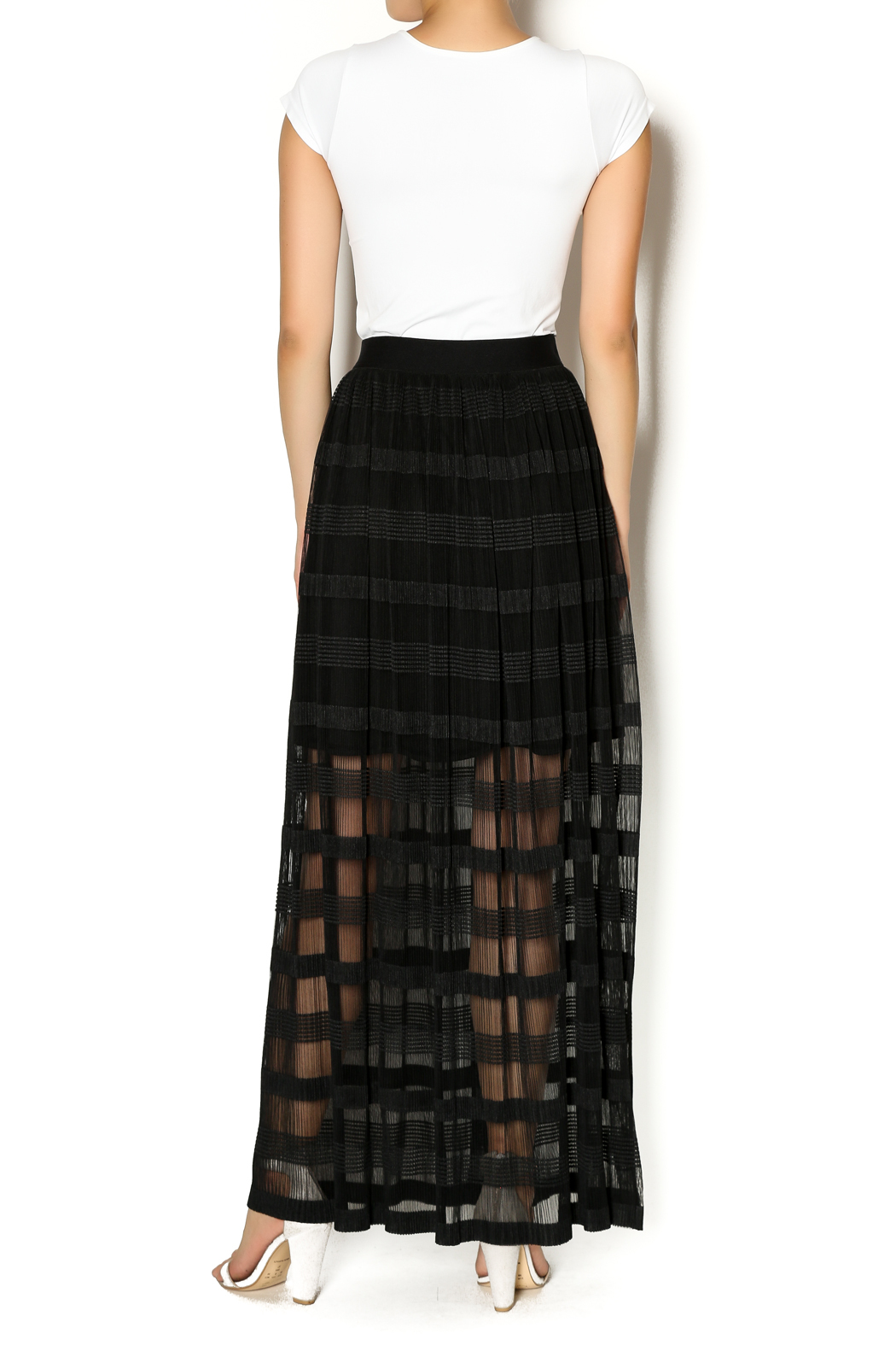 Insight New York Black Maxi Skirt - Side Cropped Image