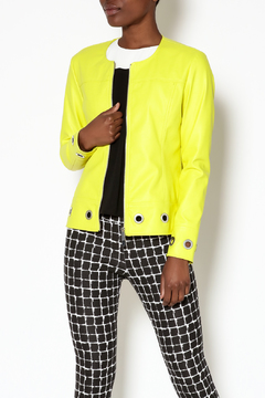 INSIGHT NYC Yellow Faux Leather Blazer - Product List Image