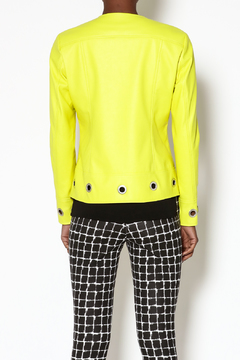 INSIGHT NYC Yellow Faux Leather Blazer - Alternate List Image